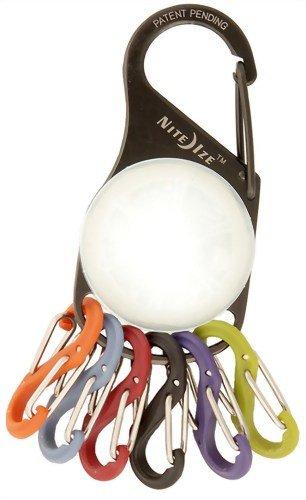 Nite Ize Schlüsselhalter KeyLit eiße LED, schwarz, NI-KRL-03-02 -