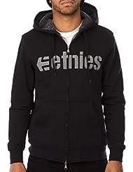 Etnies Hoodie mit Reissverschluss E-Lock Sherpa Schwarz