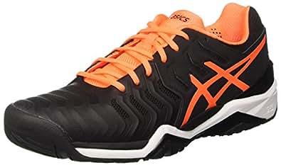 Asics Gel-Resolution 7 Clay, Chaussures de Tennis Homme, Multicolore (Ink Blue/Sulphur Spring/White 4589), 47 EU