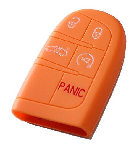Silikon Tasche für Schlüssel KFZ-Papaya -