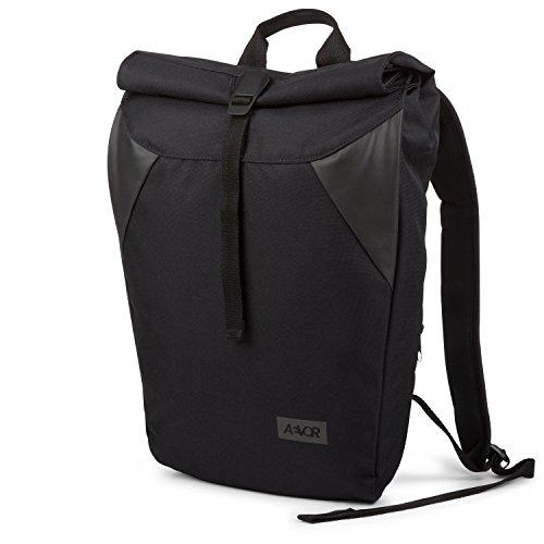 AEVOR Rolltop Black Eclipse - Urban Lifestyle Rucksack erweiterbar auf 18 Liter