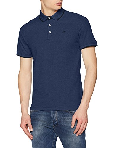 True Navy Bekleidung (JACK & JONES Herren Jjepaulos Polo Ss Noos Poloshirt, Blau (True Navy Detail: Slim Fit), XXL)