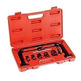 Todeco - Válvula de Compresor de Muelle, Juego de Extractor de Calentadores, con estuche rojo, Material: Acero C45, Tamaño de la caja: 33,5 x 19,5 x 5,5 cm, 11 Partes