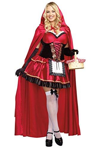 Women's Plus Size Little Red Fancy dress costume (Big W Fancy Dress Kostüme)
