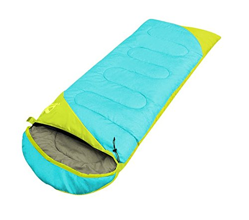 YOURJOY 1.95KG 3 Season Portable Envelope Splice Water Resistant Warm Adult Sleeping Bags Outdoor Sports Camping Hiking With Carry Bag (Blue)
