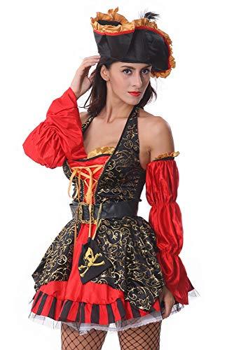 HTMP-HS Halloween-Kostüme, Rollenspiel-Kostüme, Piraten-Kostüme, Nachtclub-Uniformen und Bar-Kostüme können auch auf der Bühne, auf Partys oder in Shows verwendet Werden,A,M (Tanz Kostüm Auf Der Bühne)