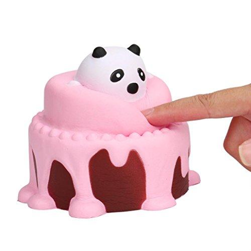 VENMO Squeeze Kuchen Squishy Langsam steigende Creme duftende Dekompression Spielzeug Lustig Weichen Steigenden Squeeze Spielzeug Telefon Riemen Ballketten FüR Kinder / Erwachsene Entlasten Stress (Pink)