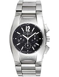 45a69f07822  Bulgari  Bvlgari reloj Elgon Negro Dial Automático Cronógrafo Fecha  eg35bssdch Hombres del paralelo mercancías