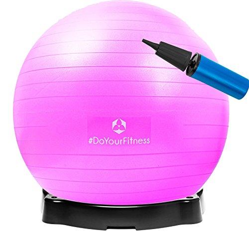 Gymnastikball »Pluto« inklusive Ballschale / Robuster Sitzball und Fitnessball / 55 cm / pink