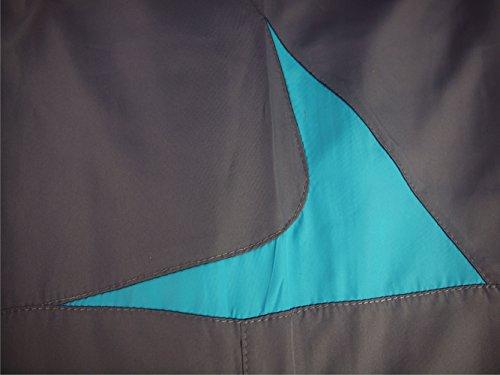 Madhero - Pantalon de sport - Droit - Femme Grey with Lake Blue