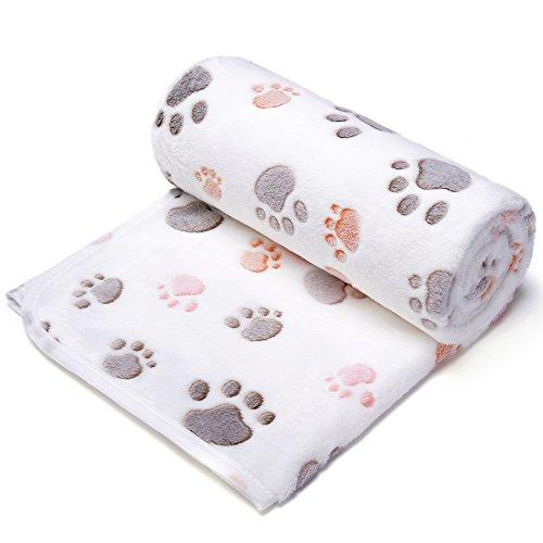 Allisandro warme und weiche Decke für Haustier wie z. B. Hunde oder Katzen, aus Korallen-Vlies, Beige, L - 2