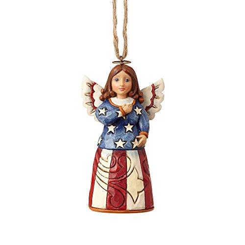ENESCO Jim Shore Heartwood Creek Mini Patriotic Angel Christmas Ornament 4058838 New -