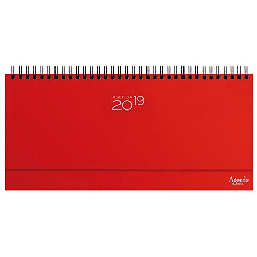 Planning agenda da tavolo 2019 settimanale spiralato AGENDEPOINT.IT 13x30 ROSSO