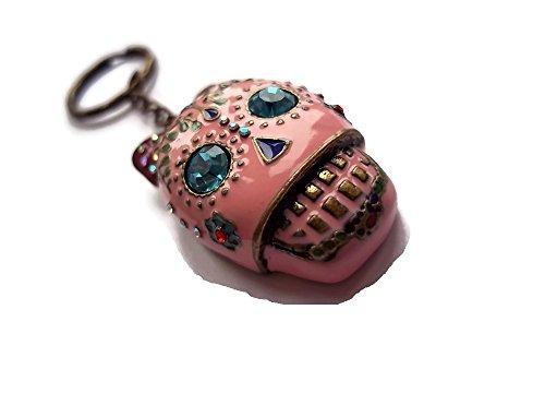 Halo accessoreis  skull keyring, Portachiavi  Donna rosa pink