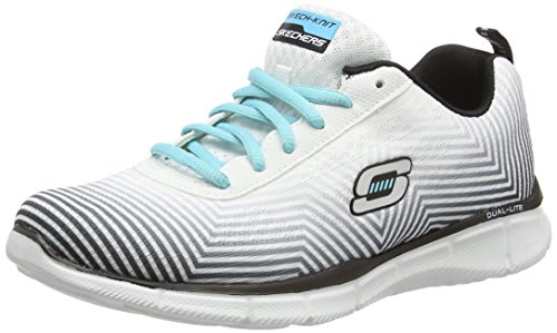 Skechers EqualizerExpect Miracles Damen Sneakers Blanco (White/Black Wbk)