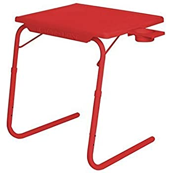 Multi Surya Table Table Mate Multi Table Red Color With Cup Holder By Rvold