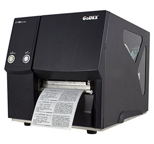 Thermodrucker Thermodirektdrucker Etikettendrucker Godex ZX430 300 dpi Modell mit Abreißkante mittig geführt LAN