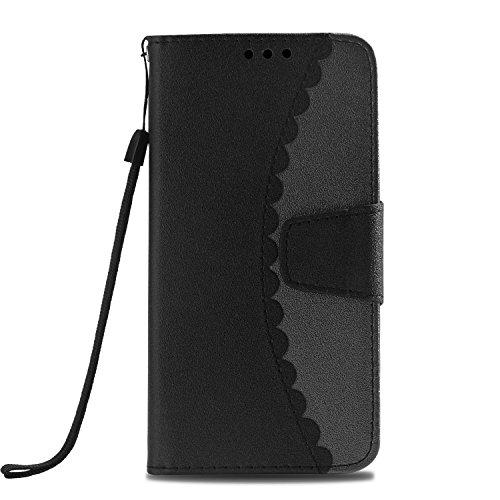 ZCXG iPhone 6S Plus Hülle Leder Schwarz Magnetisch Stand Flip Cover  Brieftasche Damen Geldbörse Lederhülle Klappbar Silikon Cover Innere  Schutzhülle ... 4c81092275