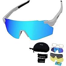 900034aafd HTTOAR Gafas de Sol Deportivas al Aire Libre protección UV400 Bicicleta Gafas  polarizadas, adecuadas para