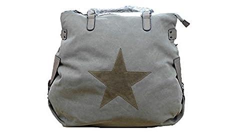 SKUTARI Damen-Handtasche XXL-Format (Maxi, Khaki 2)