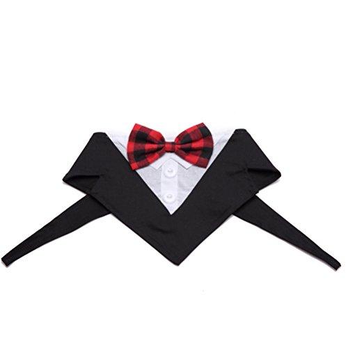 (UKCOCO Hunde Katzen Fliege Hochzeit Party Haustier Kostüm Krawatte Kragen Größe L (schwarz))