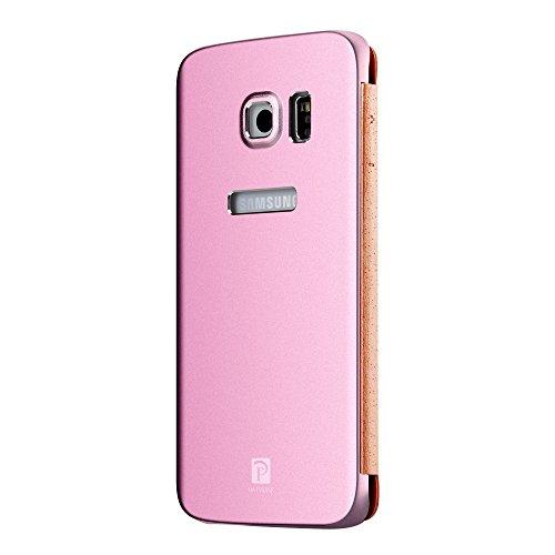 Oats® Coque - Samsung Galaxy S6 Etui Housse de Protection Case Cover Bumper en aluminium - Argent Pink