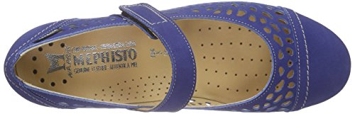 Mephisto Ella Bucksoft 6915 Electric Blue, Mary Jane femme bleu (ELECTRIC BLUE)