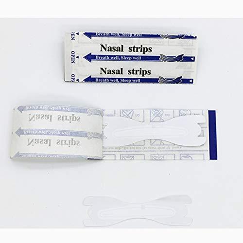 J&j 30 cerotti nasali trasparenti misura grande, strisce per non russare antirussamento, misura l (67x19mm), aiuto per sport, respira bene con naso libero