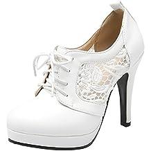 SHOWHOW Damen Spitz Zehe Low Top High Heels Pumps mit Schleife