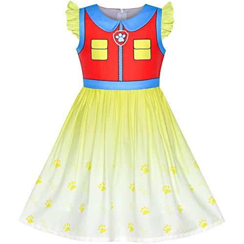 Sunboree Mädchen Kleid Pfote Patrouillieren Ryder Halloween Cosplay -