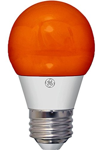 3 Light Medium Base (GE Lighting 23054 3-Watt LED 45-Lumen Party Light Bulb with Medium Base, Orange, 1-Pack by GE Lighting)