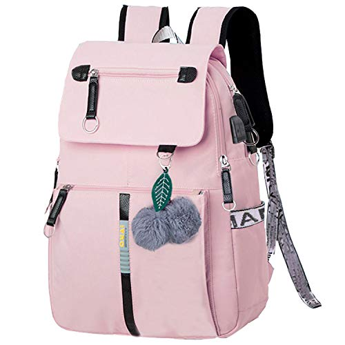 Schulrucksack Mädchen SchulranzenJungen Schultasche mit Ergonomischem Design Rucksack Campus Backpack Nylon Wasserdicht Daypacks Damen Freizeitrucksack Teenager Rucksäcke Modisch SchuleBag