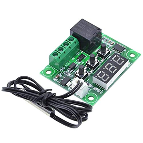 Vkospy W1209 12V DC-Digital-LCD -50-110 ℃ Bereich Thermostat Temperaturregelung Schalter-Sensor-Modul -