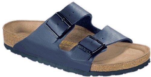 Birkenstock Arizona 51063, Unisex - Erwachsene Clogs & Pantoletten aus Birko-Flor (schmal) Blue