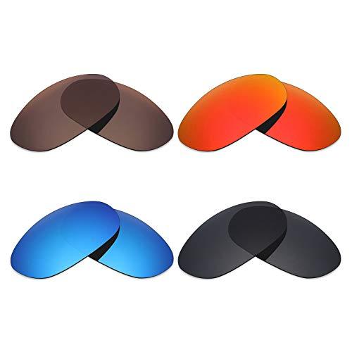 Mryok 4Paar Polarisierte Ersatz-Objektive für Costa Del Mar Harpoon Sonnenbrille-Stealth Schwarz/Fire Rot/Ice Blau/Bronze Braun