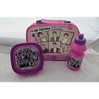 f89b5050de40 One Direction Red 3 Piece Lunch Set - Lunch Bag Bottle and Sandwich ...