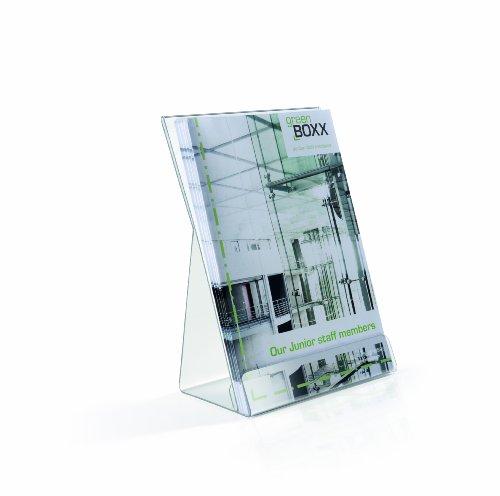 Durable 859519 Aufsteller/Prospektspender, für DIN A5 Informationen, 2 Stück, farblos