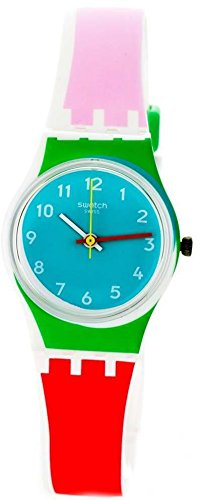 Swatch Damen Armbanduhr Digital Quarz Silikon LW146