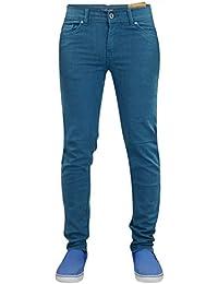 Mens Carbon Skinny Slim Fit Stretch Denim Basic 5 Pocket Jeans Pants