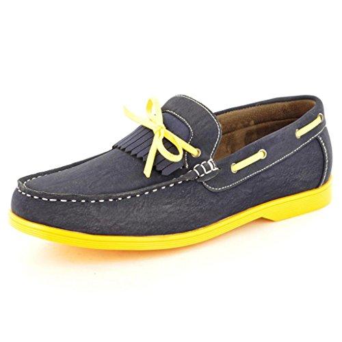 Neue Men's Casual offiziellen Smart Boat Schuhe mit Spitze, Gr枚脽e Marineblau