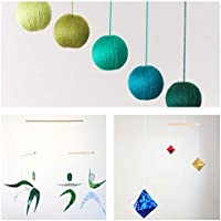 Set of 3 Montessori inspired mobiles - Green Gobbi, Dancers, Octahedron. Montessori mobile. Baby mobile. Hanging mobile. Crib toy.