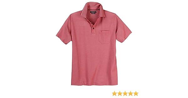 CasaModa Herren Übergrößen Poloshirt easy care rot melange 3XL 4XL 5XL 6XL NEU