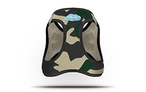 CURLI Brustgeschirr Plush Vest AIR-MESH camouflage für Hunde XL (53 – 58cm) - 2