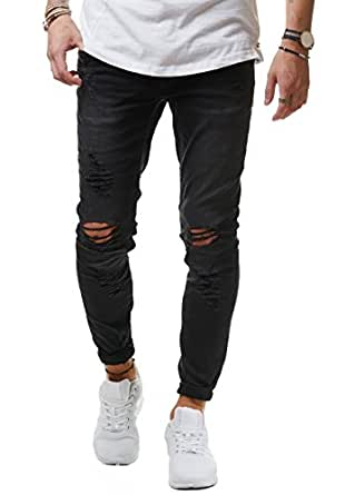 eightyfive herren jeans denim hose slim fit skinny destroyed stretch ef1512 bekleidung. Black Bedroom Furniture Sets. Home Design Ideas