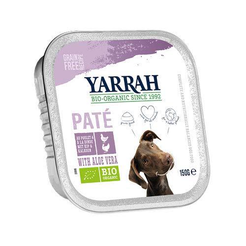 Yarrah - Hundefutter Paté Truthahn mit Aloe Vera Bio 12x150g