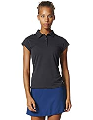 adidas uncontrol Climachill Polo, primavera/verano, mujer, color Chill Black Melange, tamaño small