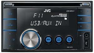 JVC KW-XR411E Autoradio CD Double DIN mp3/wma 4 x 50 W Noir