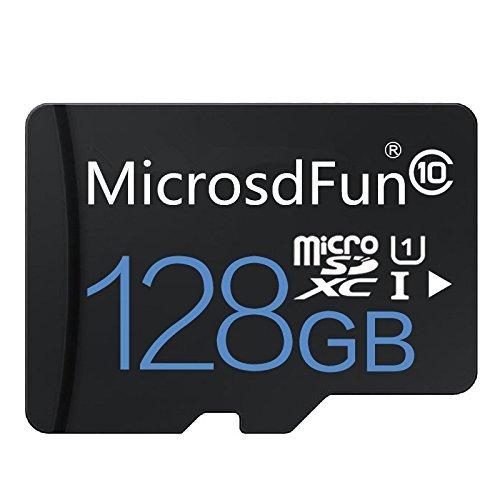Bondisk MicrosdFun Ultra Tarjeta de Memoria Micro SDXC UHS-I de 128 GB, Clase 10, con Adaptador de Alta Velocidad, Tarjeta TF (128 GB, Negro) 128 GB