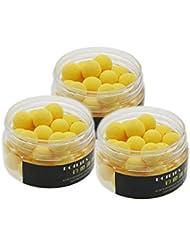 MMRM 30 PC / 12MM caja grano de la carpa cebos artificiales de pesca señuelo flotante Float color color amarillo