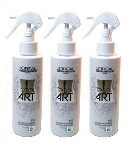 3 x Loreal tecni.art Pli Thermo Spray 190ml